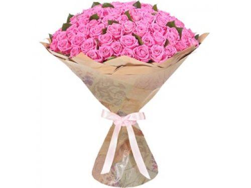 """Букет 101 роза. Премиум Класса. Сорт - """"Аква"""""""