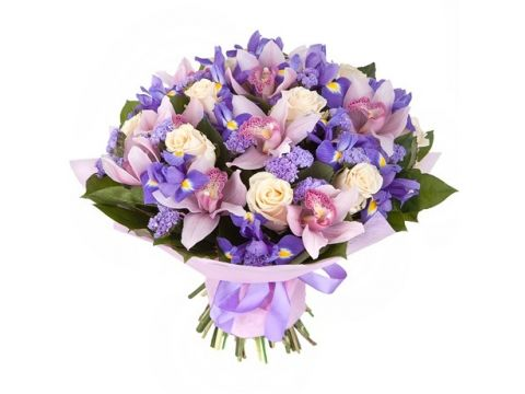 9 орхидей, 20 ирисов, 7 роз