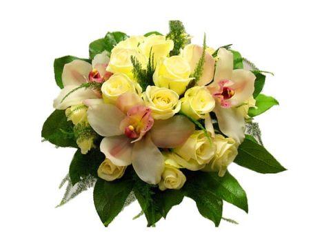 Букет розы и орхидеи