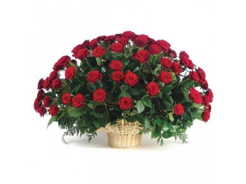 Корзина 71 красная роза