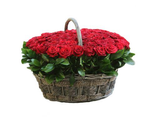 Корзина 151 красная роза