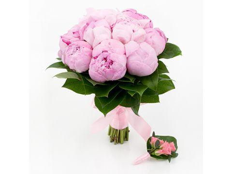 5 Розовых Голландских пионов