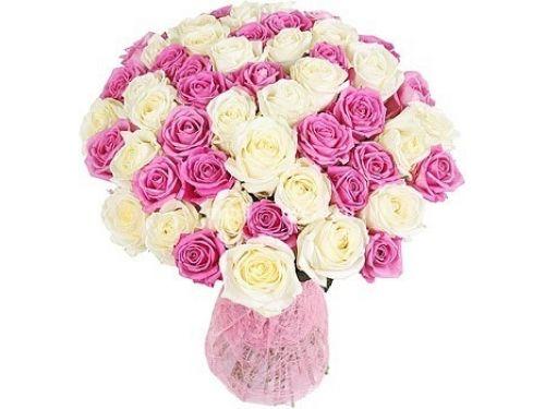 """51 Роза из нескольких цветов, """"Mix 5"""""""