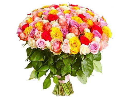 """51 Роза из нескольких цветов, """"Mix 3"""""""