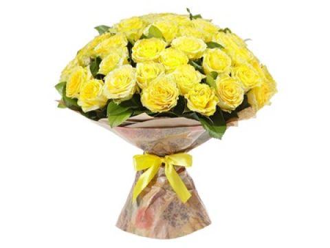 Премиум Букет 51 желтая роза