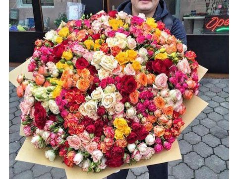 301 кустовая роза микс