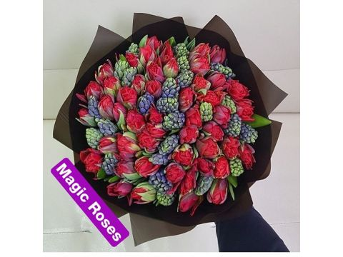 Гиацинты и тюльпан Микс 1