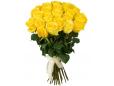 39 персиковых и желтых роз