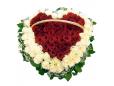 Сердце в корзине из 59 роз