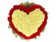 Сердце в корзине из 301 розы
