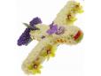 Самолет из цветов