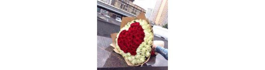 Сердца из роз