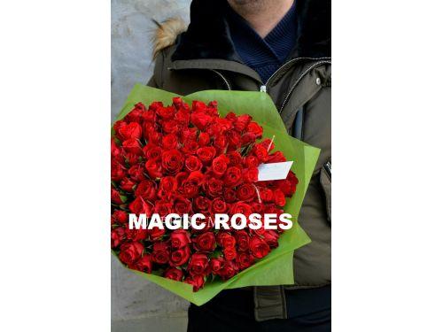 "101 красная роза ""Кени"""