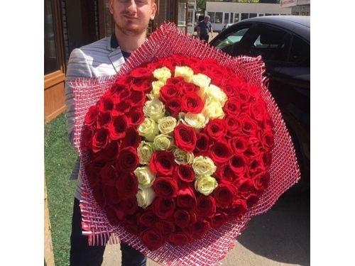 101 роза с буквой