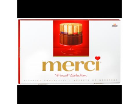 Шоколадный набор Merci Ассорти молочный/горький 400г